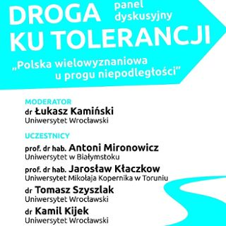 """Panel dyskusyjny """"Droga ku tolerancji"""" w Synagodze pod Białym Bocianem"""