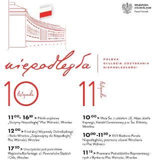 Obchody 100. Rocznicy Odzyskania Niepodległości we Wrocławiu