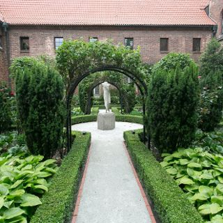 Monastery garden of the Museum of Architecture