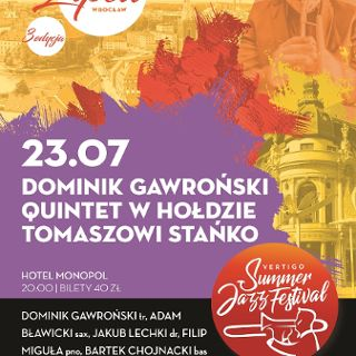 Dominik Gawroński Quintet & Konrad Imiela w hołdzie Tomaszowi Stańko