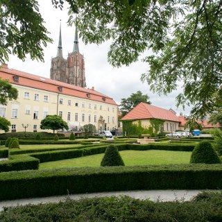 Ogród przy Papieskim Wydziale Teologicznym