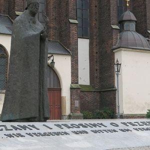 Ojciec Św. Jan Paweł II i kardynał B. Kominek we Wrocławiu