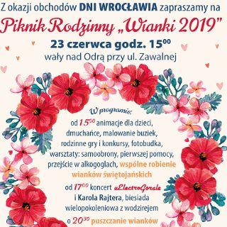 """Piknik rodzinny """"WIANKI 2019"""""""