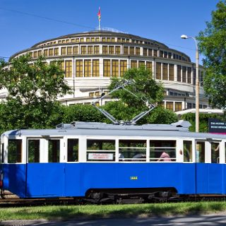 Antique trams