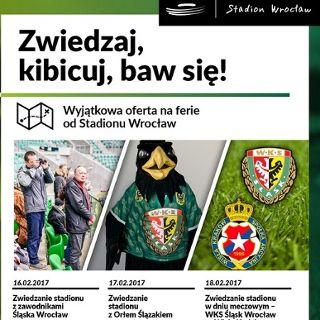 Zwiedzanie Stadionu z piłkarzami WKS Śląsk Wrocław