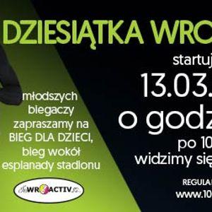 """Bieg """"Dziesiątka Wroactiv"""" na Stadionie Wrocław"""