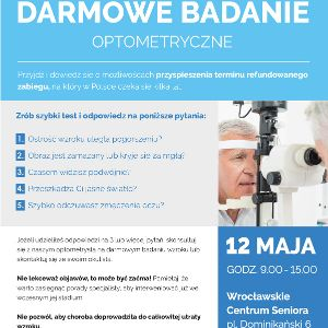 Bezpłatne badania optometryczne pod kątem zaćmy