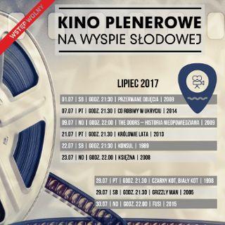 Kino Plenerowe na Wyspie Słodowej – lipiec