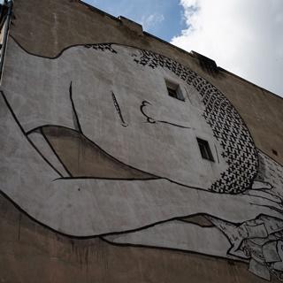 Mural BLU przy ul. Cybulskiego