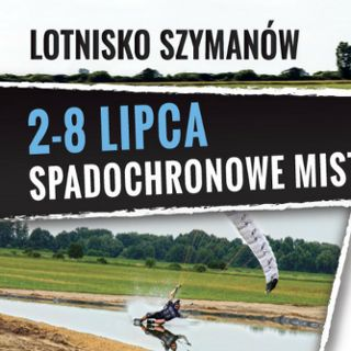 Mistrzostwa Świata spadochroniarzy na lotnisku w Szymanowie