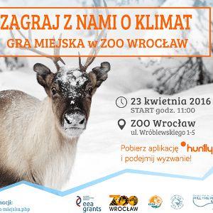 """Gra miejska w zoo """"ZAGRAJ Z NAMI O KLIMAT""""!"""