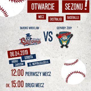 Mecz ekstraligi baseballu: Barons Wrocław – Gepardy Żory