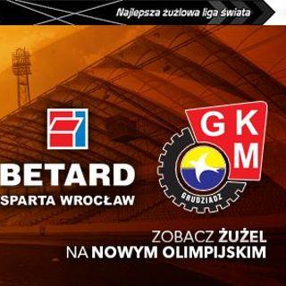 Żużel: Betard Sparta Wrocław vs. MrGarden GKM Grudziądz
