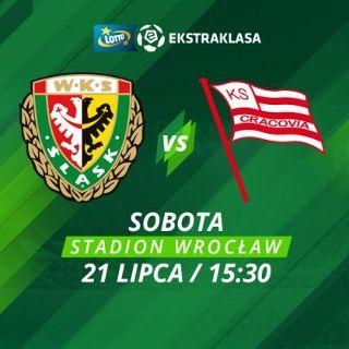 Lotto Ekstraklasa: WKS Śląsk Wrocław - Cracovia Kraków