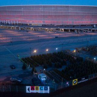 Choinkowy las na Stadionie Wrocław