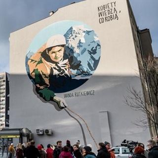 Mural - himalaistka Wanda Rutkiewicz