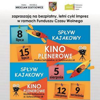 Spływ kajakowy Widawą i letnie kino plenerowe na Sołtysowicach
