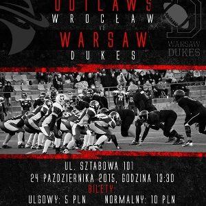 Finał PLFA 2 - Wrocław Outlaws vs Warsaw Dukes