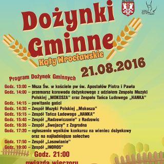 Dożynki Gminne w Kątach Wrocławskich 2016