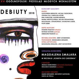 """Przegląd Młodych Wokalistów """"Debiuty 2018"""" – koncert galowy"""