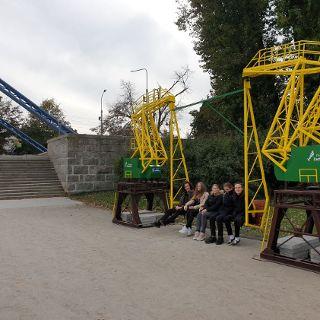 Dźwigozaury ze Szczecina przy moście Grunwaldzkim